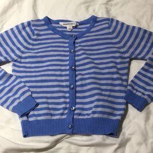 Pumpkin patch mixed blues cardigan💯cotton worn 1x